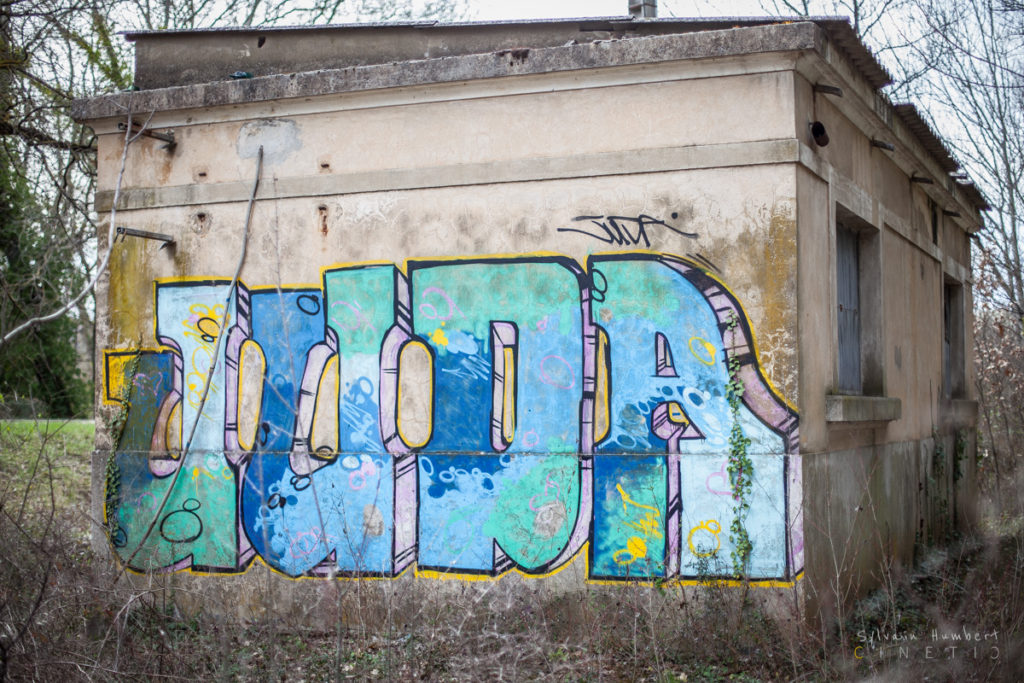 Graffiti en pleine nature a la campagne